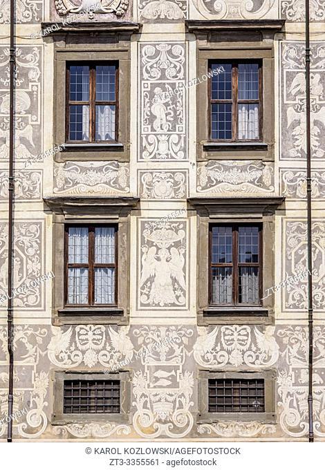 Palazzo della Carovana, detailed view, Piazza dei Cavalieri, Knights' Square, Pisa, Tuscany, Italy