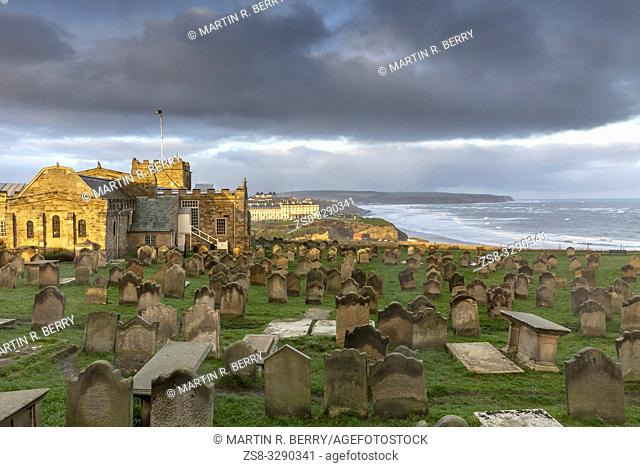 St Mary's church and gravestones in Whitby, North Yorkshire