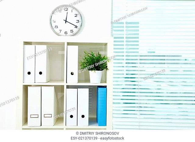 Bookcase with documents