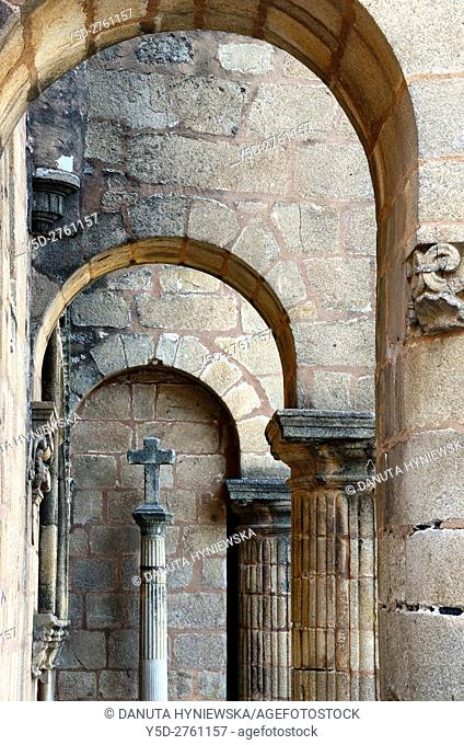 architectural detail, Santiago church, Caceres, UNESCO , Extremadura, Spain, Europe