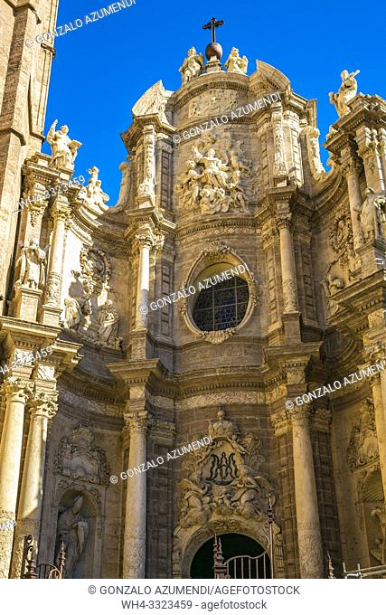 The Iron Gate. Santa Maria de Valencia Cathedral . Valencia. Comunidad Valenciana. Spain.
