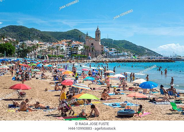 Spain, Catalonia, Sitges City, Old Town