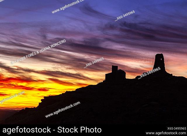 Marcuello castle, La Hoya de Huesca, Huesca, Spain