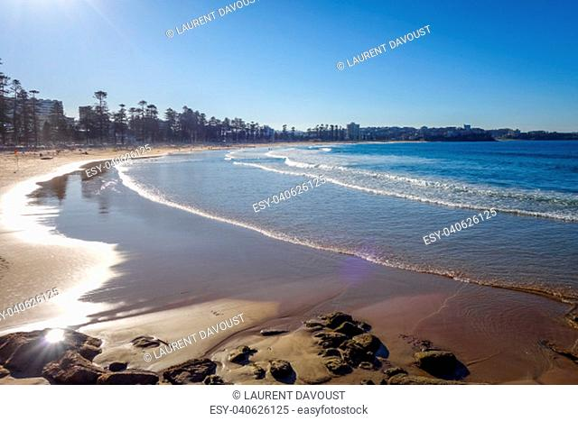 Manly Beach at sunset, Sydney, New South Wales, Australia