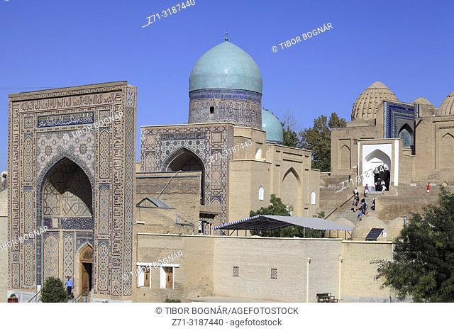 Uzbekistan, Samarkand, Shah-i-Zinda, necropolis, mausoleums,