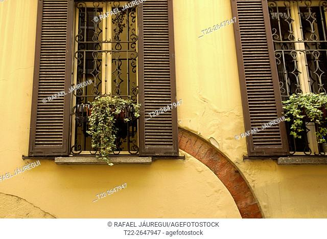 Pavia (Italy). Architectural detail in the city of Pavia
