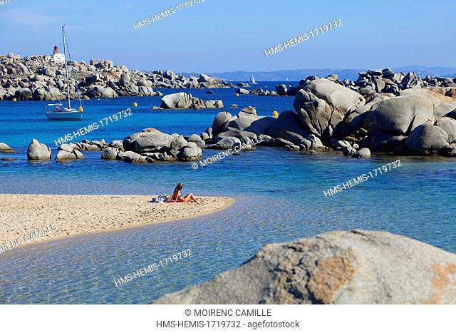 France, Corse du Sud, Bonifacio, Lavezzi Islands Nature Reserve, the Cala di Achiarina