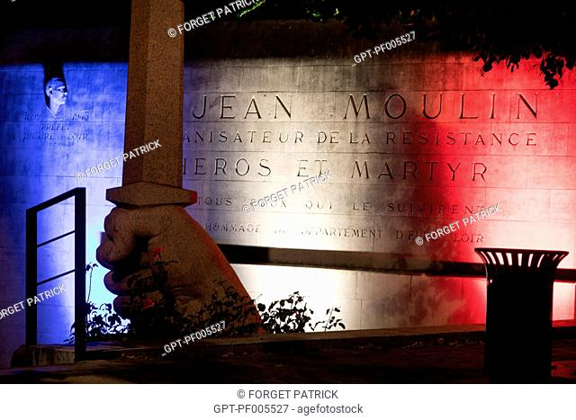 MONUMENT IN HOMAGE TO JEAN MOULIN, HERO OF THE RESISTANCE AND PREFECT OF THE EURE-ET-LOIR, CHARTRES (28), FRANCE