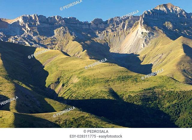 Tendenera Mountains in Pyrenees, Tena Valley, Huesca, Aragon, Spain