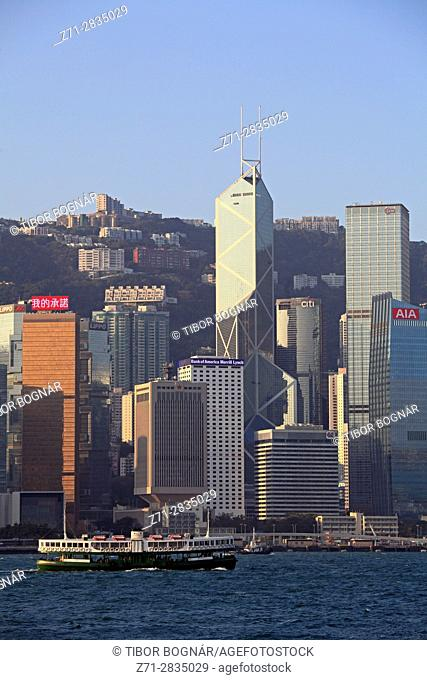China, Hong Kong, Central district, skyline, Star Ferry,