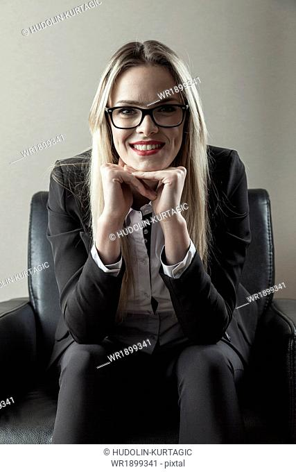 Portrait of businesswoman with eyeglasses