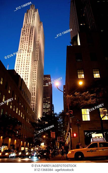 The Rockefeller Center in Midtown Manhattan New York City