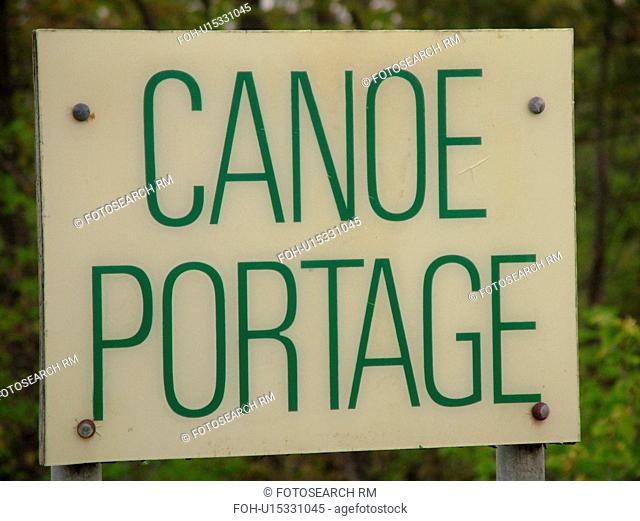 road sign, Canoe Portage sign, boat portage