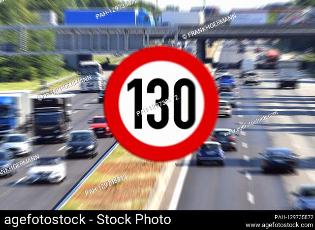 PHOTO ASSEMBLY: Federal Council vote on Tempoliwith Tempoliwith: Germany is discussing a speed limit on the highway to a maximum speed of 130 km / h