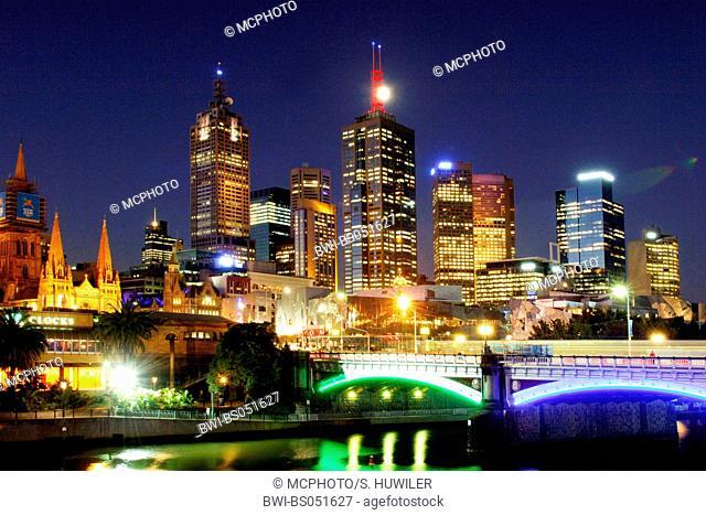Melbourne at night, Australia, Melbourne