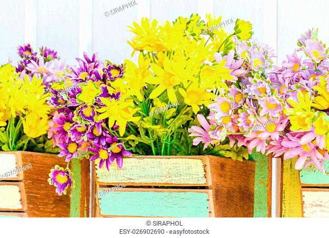Interior plastic flower in vase