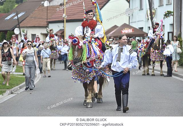 Traditional Ride of the Kings is performed on May 27, 2018, in Vlcnov (300 km east of Prague). Every year, on the last Sunday in May