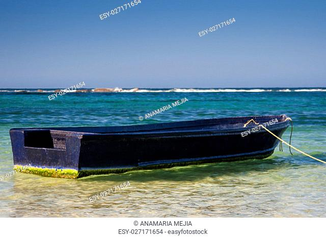 Boat at the National Natural Park Tayrona in Colombia