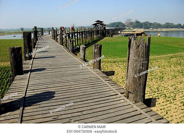 U-Bein-Brücke am Taungthaman See