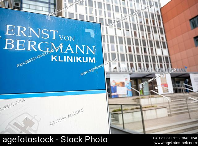 31 March 2020, Brandenburg, Potsdam: The Ernst von Bergmann Clinic. The Potsdam clinic has established a separate and isolated Covid hospital on its premises