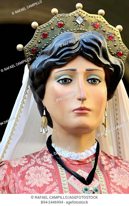 Giants. February 12, Celebration of Saint Eulalia martyr, 290-303 AD. Canonized 633 AD. Copatron of Barcelona. Gothic Quarter. Ciutat vella district