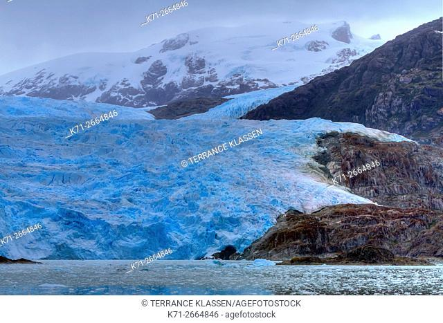 El Brujo Glacier in Asia Fjord, Southern Patagonia Icefield, Chile, South America