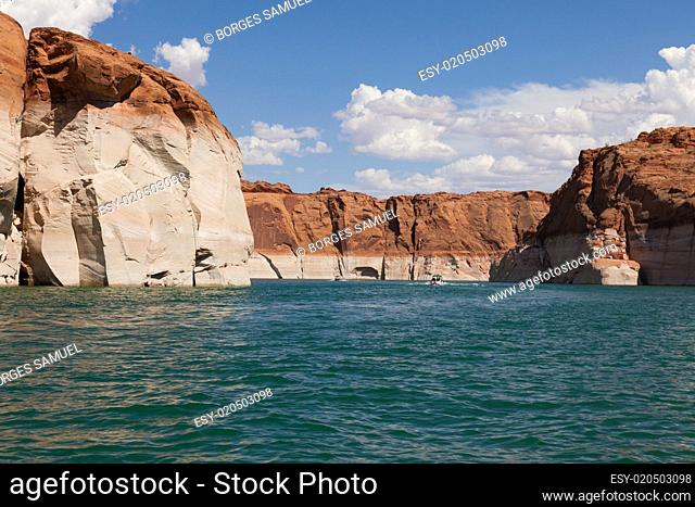 Lake Powell, in Glen Canyon in Utah and Arizona