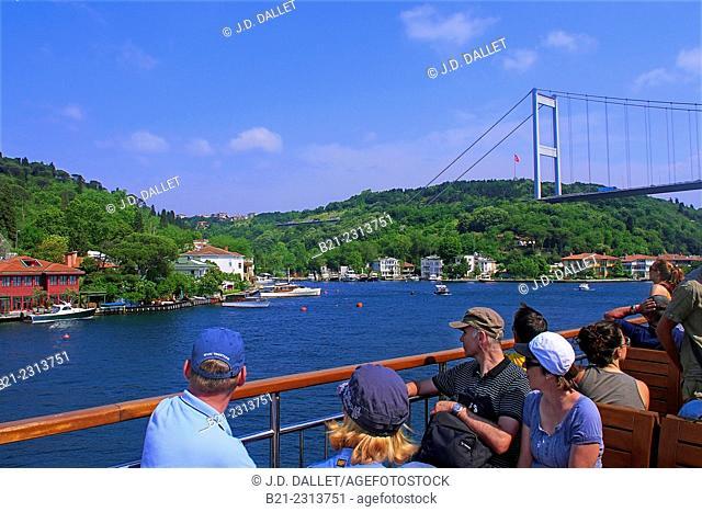 Turkey- touring by the FSM Bridge on the Bosphorus