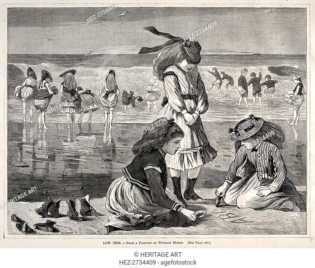 Low Tide, 1870. Creator: Winslow Homer (American, 1836-1910)