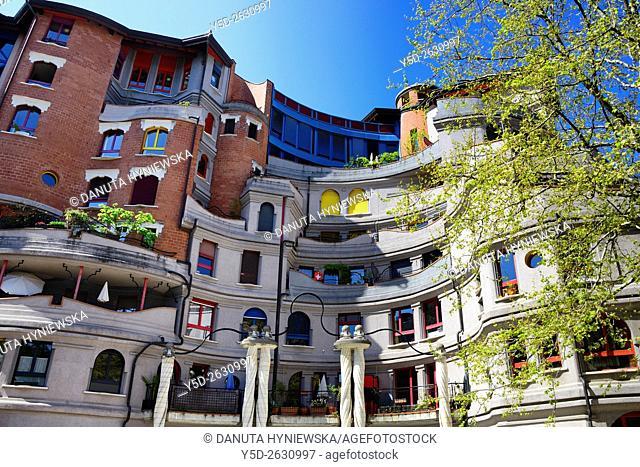 residential area called 'Les Grottes', Genève, Geneva, Switzerland, Europe