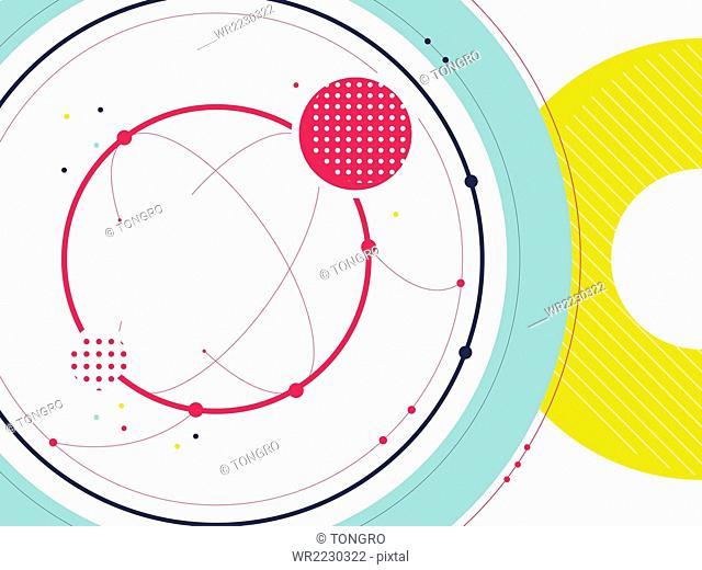 Geometric illustration in circle