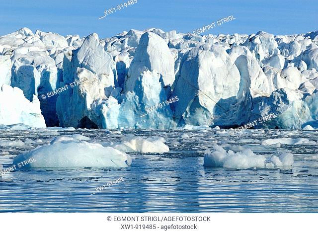 glacier at Crocker Bay on Devon Island, Northwest Passage, Nunavut, Canada, Arctic