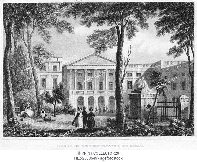 'House of Representatives, Brussels', 1850. Artist: William Owen