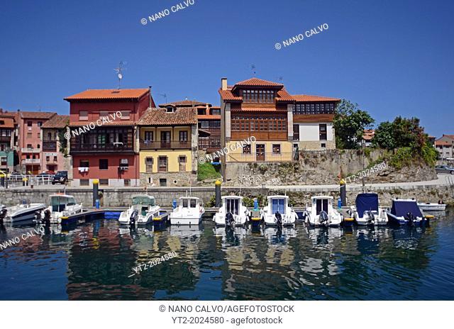 Leisure port of Llanes, Asturias, Spain