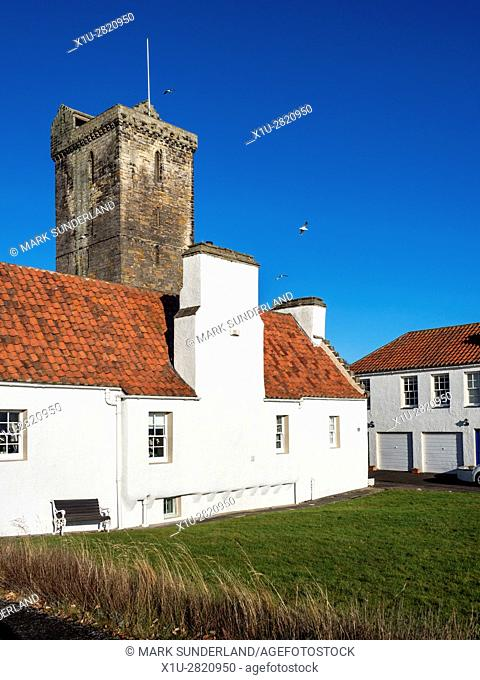 St Serfs Old Parish Church and Cottages on Pan Ha at Dysart Fife Scotland
