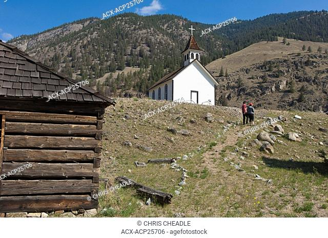 St. Anne's church on the Upper Similkameen Indian Reserve is a well-known site east of Hedley on Highway 3, British Columbia, Canada
