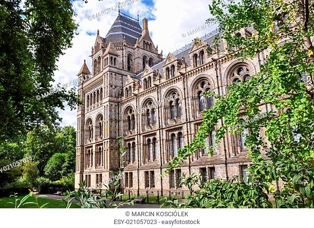 Part of Natural History Museum building in London