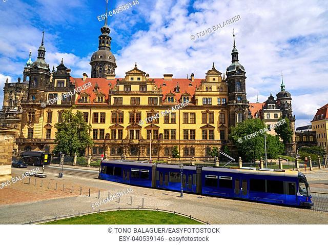 Residenzschloss near Zwinger in Dresden Germany