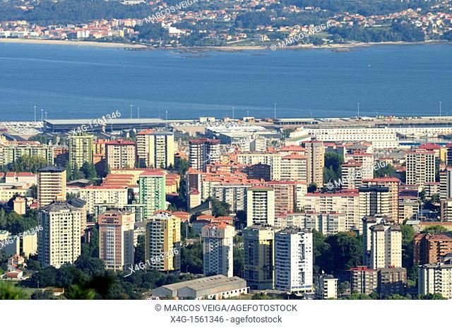 Cityscape of Vigo, Galicia, Spain