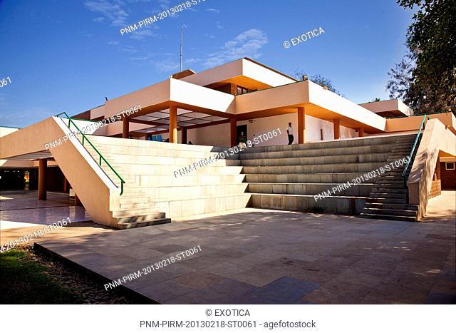 Facade of an Arts Academy building, Kala Academy, Panaji, Goa, India
