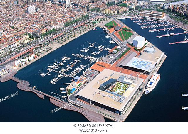 Port Vell, old harbour. Barcelona. Spain