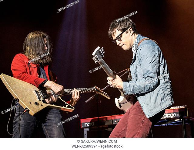 Weezer performing at Manchester O2 Apollo Featuring: Weezer, Rivers Cuomo, Brian Bell Where: Manchester, United Kingdom When: 25 Oct 2017 Credit: Sakura/WENN