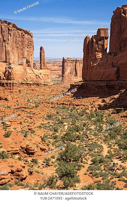 Park Avenue Viewpoint, Arches National Park, Moab, Utah, USA