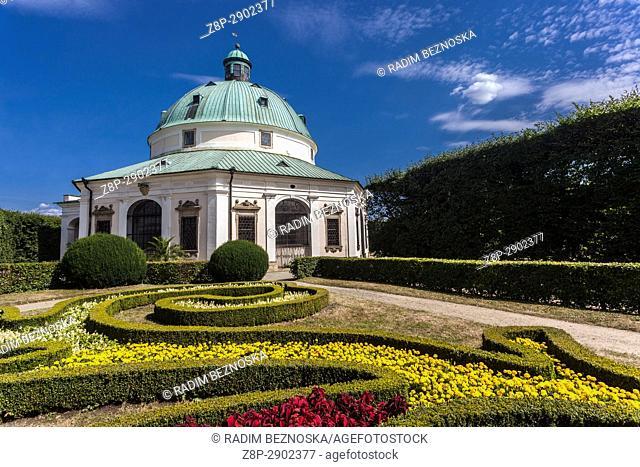 Baroque Rotunda in Pleasure Garden, Kromeriz, UNESCO city, Morava, Czech Republic