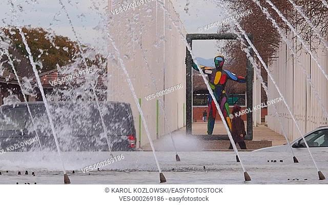 Sculpture in Parc del Port Olimpic in Barcelona, Catalonia, Spain