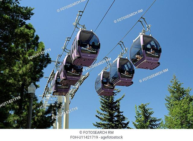Spokane, WA, Washington, Spokane Falls, Spokane River, Sky Ride over the falls, riverfront