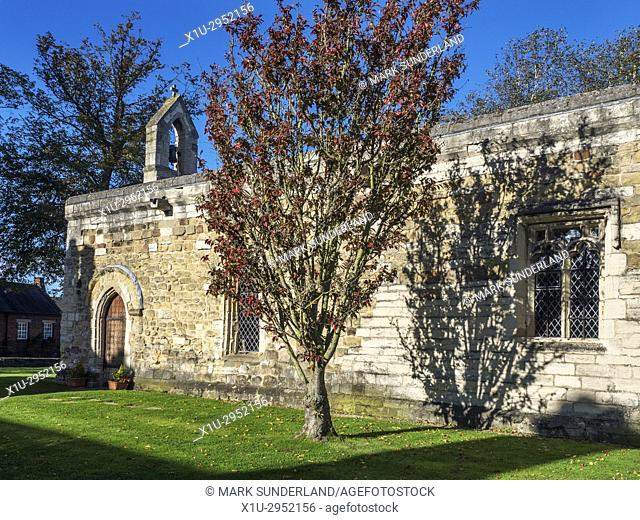 Chapel of St Mary Magdalen or the Leper Chapel on Magdalens Road Ripon Yorkshire England
