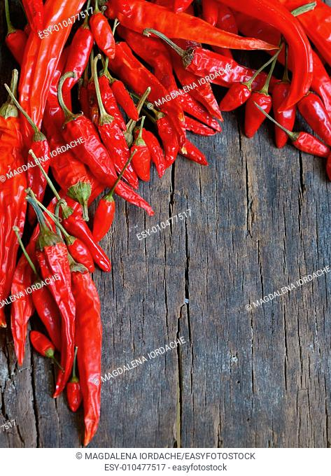 Red Hot Chili Peppers on old wood