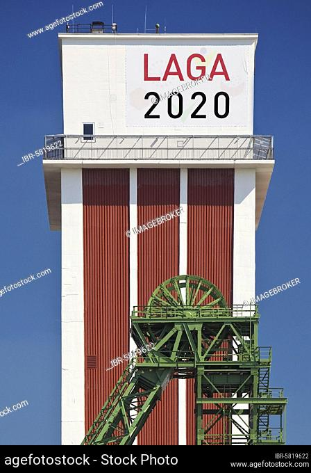 State Garden Show 2020 on the site of the former Friedrich Heinrich 1/2 colliery, Kamp-Lintfort, Ruhr area, North Rhine-Westphalia, Germany, Europe