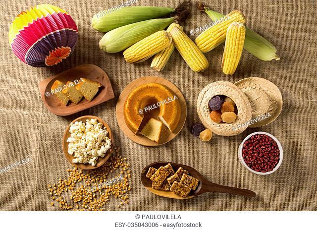 Table of brazilian festa junina - Brazil